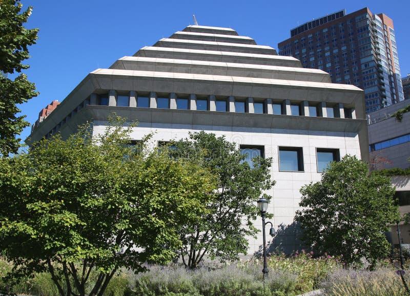 Museum of Jewish Heritage in Lower Manhattan royalty free stock image