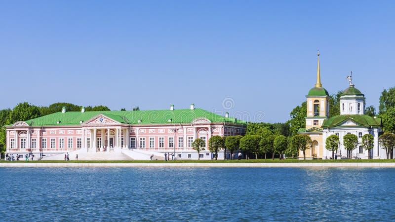 Museum Kuskovo in Moskou, het vroegere landgoed van Sheremetev-Co royalty-vrije stock afbeelding