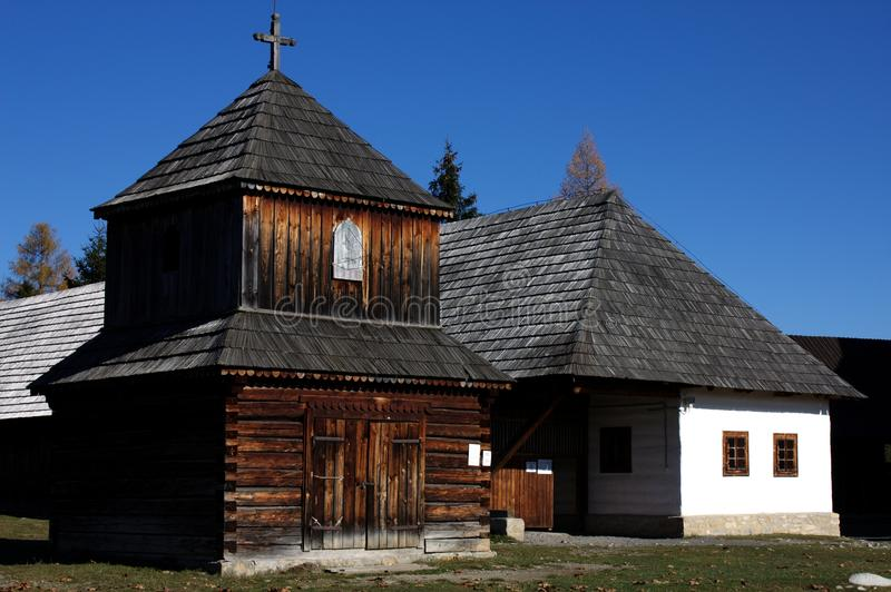 Museum of the Liptov Pribylina stock image