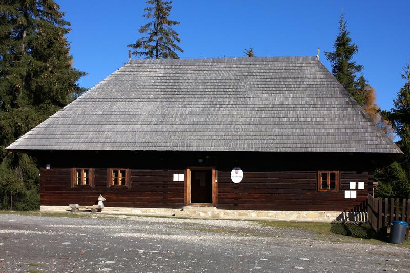 Museum of the Liptov Pribylina royalty free stock image