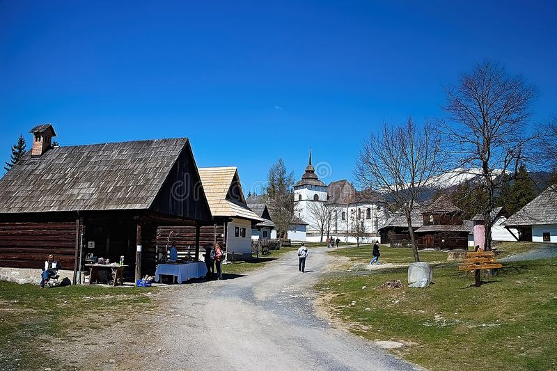 Museum of Liptov village in Pribylina, the youngest museum in nature in Slovakia stock photography