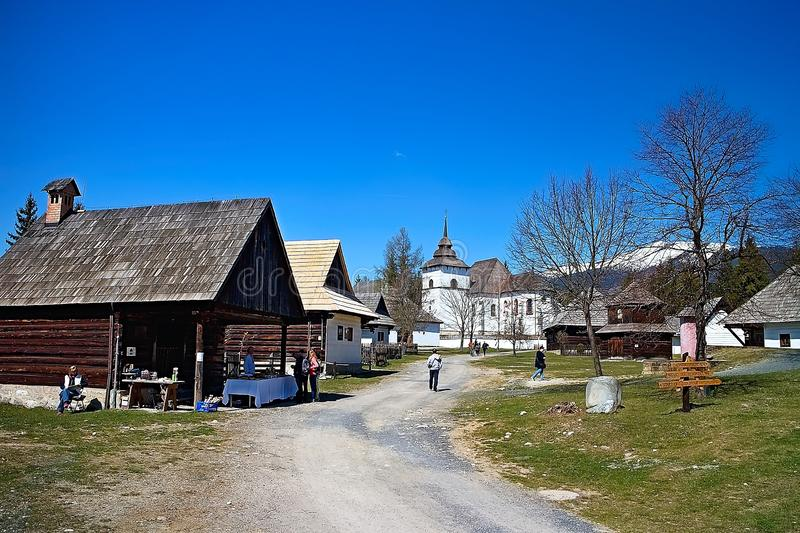 Museum of Liptov village in Pribylina, the youngest museum in nature in Slovakia stock photo