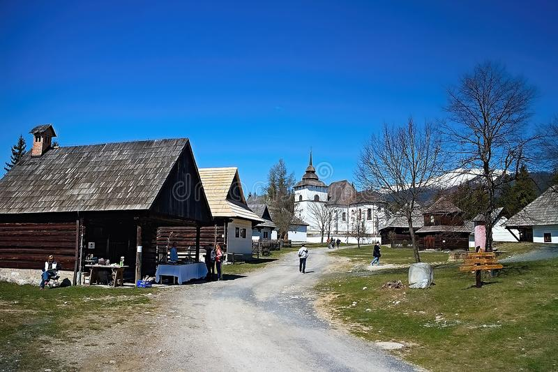 Museum of Liptov village in Pribylina, the youngest museum in nature in Slovakia stock images