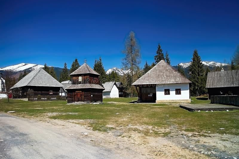 Museum of Liptov village in Pribylina, the youngest museum in nature in Slovakia royalty free stock image