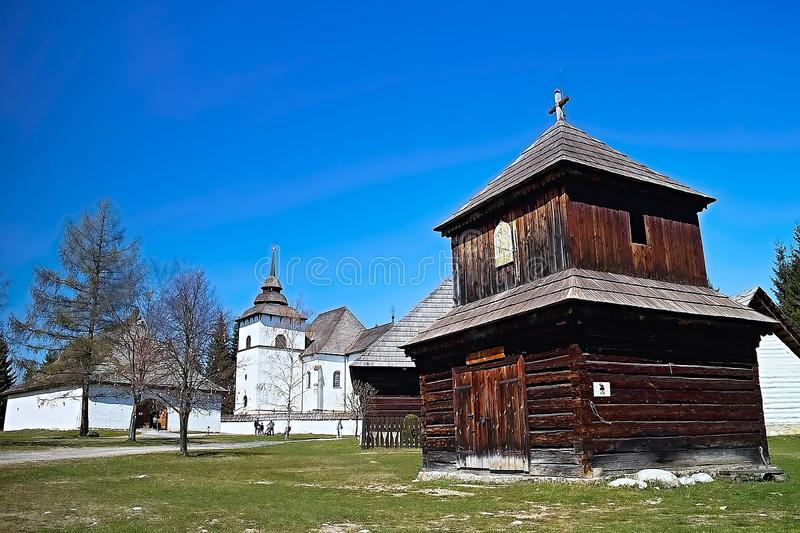 Museum of Liptov village in Pribylina, the youngest museum in nature in Slovakia stock photos
