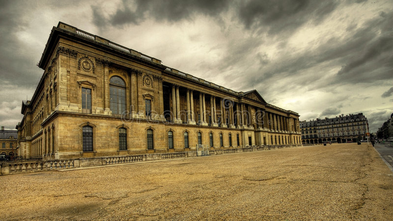 The Museum of Louvre stock photo