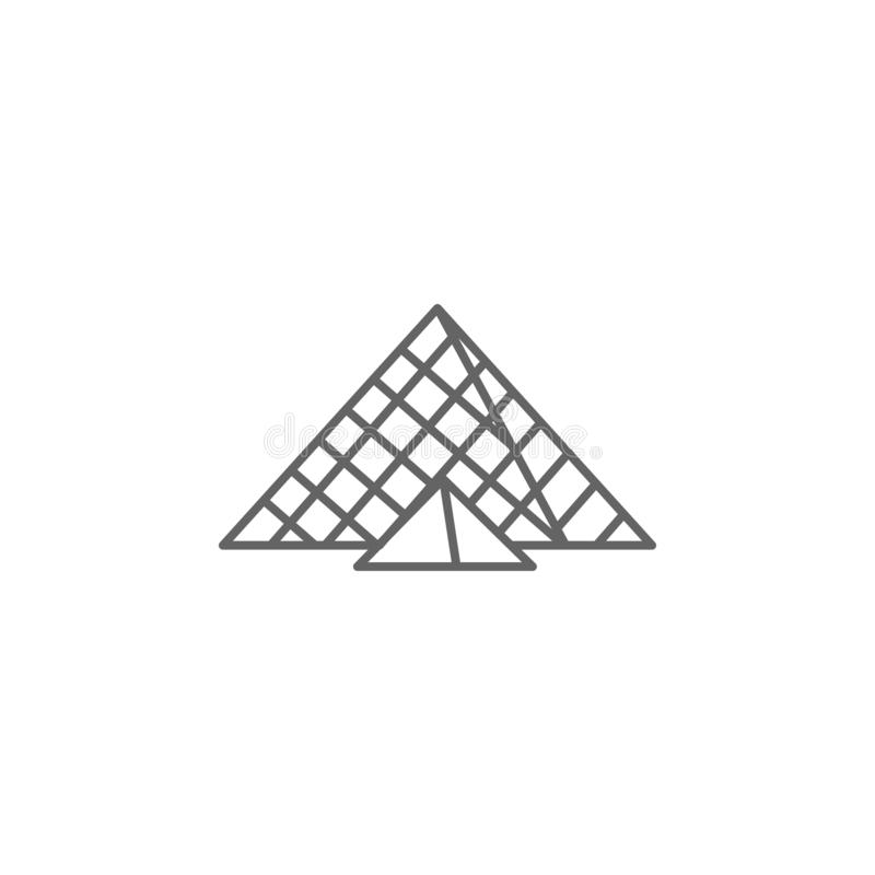 Museum, louvre icon. Element of Paris icon. Thin line icon for website design and development, app development stock illustration