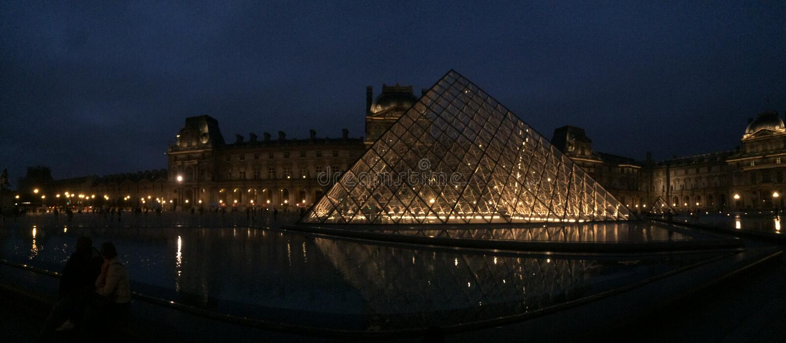 The museum Louvre at Paris royalty free stock image