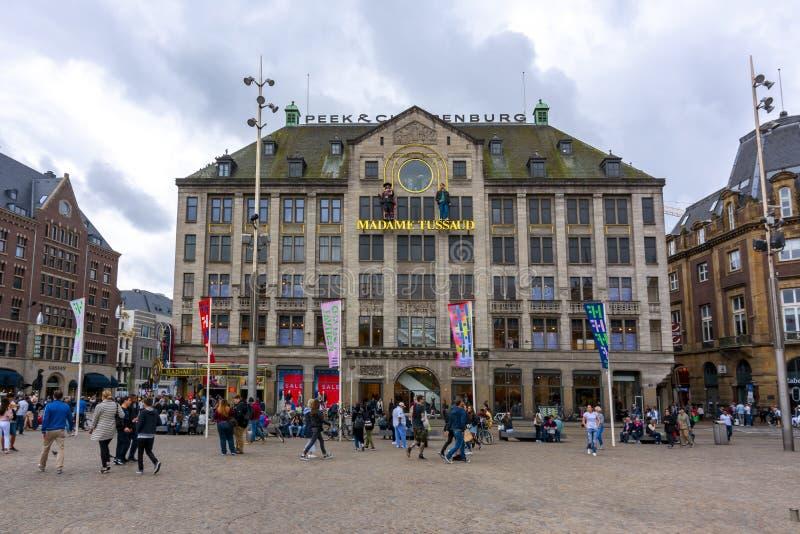 Museum Madame Tussauds auf Verdammungsquadrat, Amsterdam, die Niederlande lizenzfreies stockbild