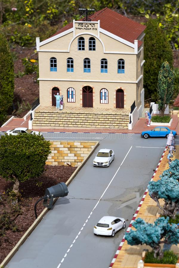Museum of miniature architectural landmarks of Israel in the open air. LATRUN, ISRAEL - 23 NOVEMBER 2017: Museum of miniature architectural landmarks of Israel royalty free stock image