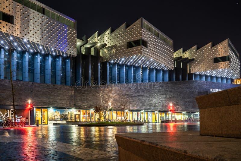 Museum mit moderner Architektur die Stadt von Amersfoort stockfotografie
