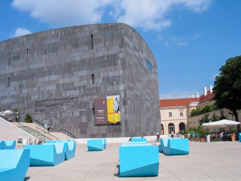 Museum of Modern Art in Vienna known as Mumok stock photos