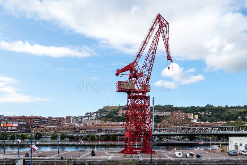 Museum Museo Maritimo Ria de Bilbao i Spanien royaltyfri bild