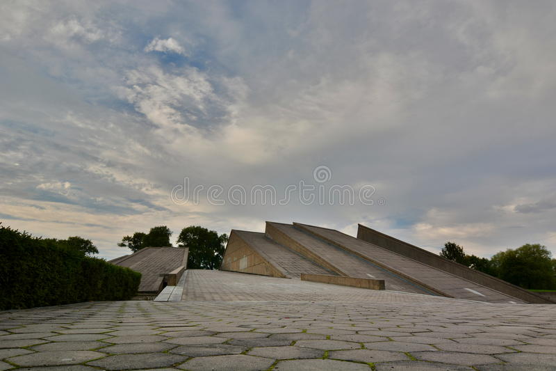 museum Negende Fort kaunas litouwen stock afbeeldingen