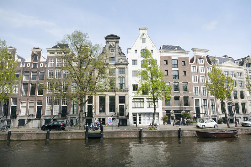 Museum for photography Huis Marseille on prinsengracht in centre. Of dutch capital Amsterdam in spring royalty free stock photos