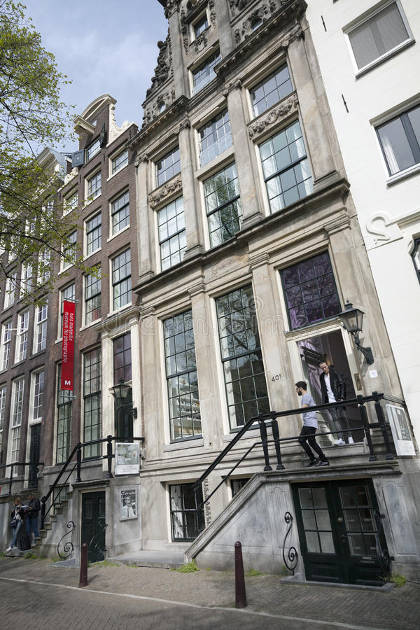 Museum for photography Huis Marseille on prinsengracht in centre. Of dutch capital Amsterdam in spring royalty free stock images