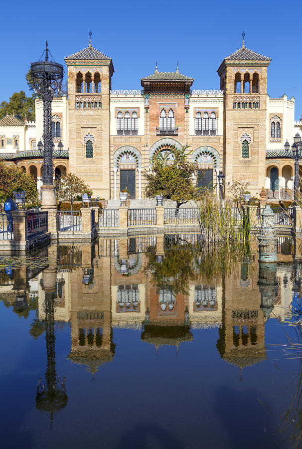 Museum of Popular Arts of Seville, Spain stock image