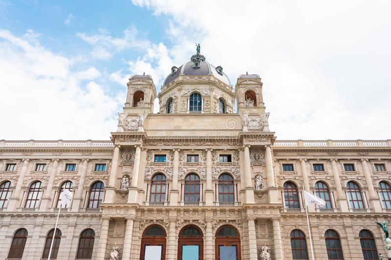 Museum Quarter or Maria Teresa Square overlooking the Natural History Museum in Vienna, Austria. Museum Quarter or Maria Teresa Square overlooking the Natural royalty free stock photography