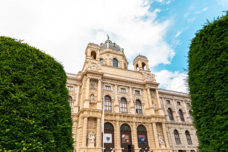 Museum Quarter or Maria Teresa Square overlooking the Natural History Museum in Vienna, Austria. Museum Quarter or Maria Teresa Square overlooking the Natural royalty free stock image