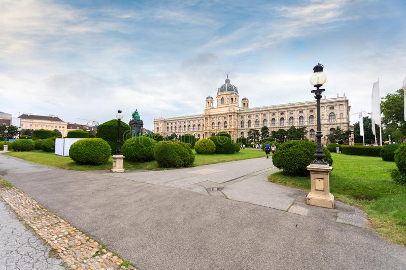 Museum Quarter or Maria Teresa Square overlooking the Natural History Museum in Vienna, Austria. Museum Quarter or Maria Teresa Square overlooking the Natural stock photography