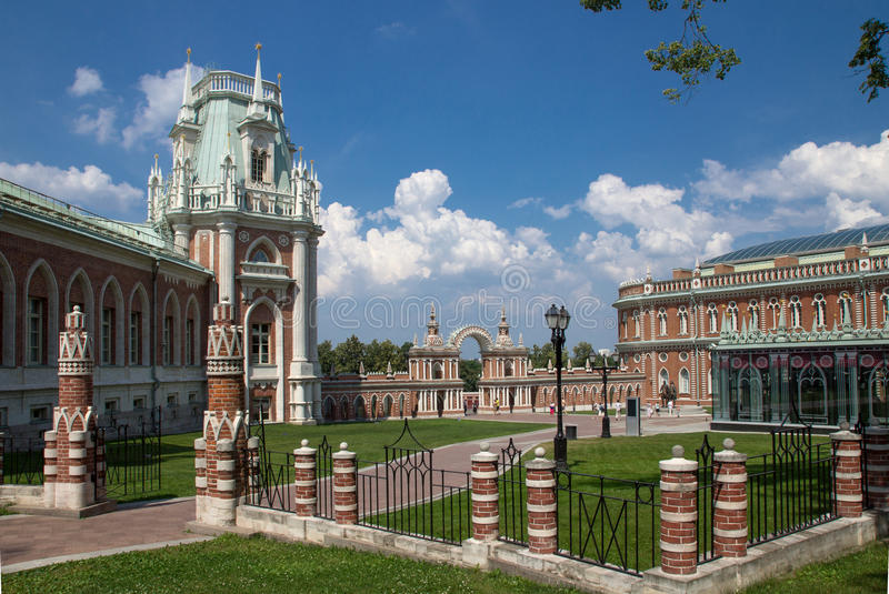 Museum-reserv Tsaritsyno i Moskva, Ryssland royaltyfria foton