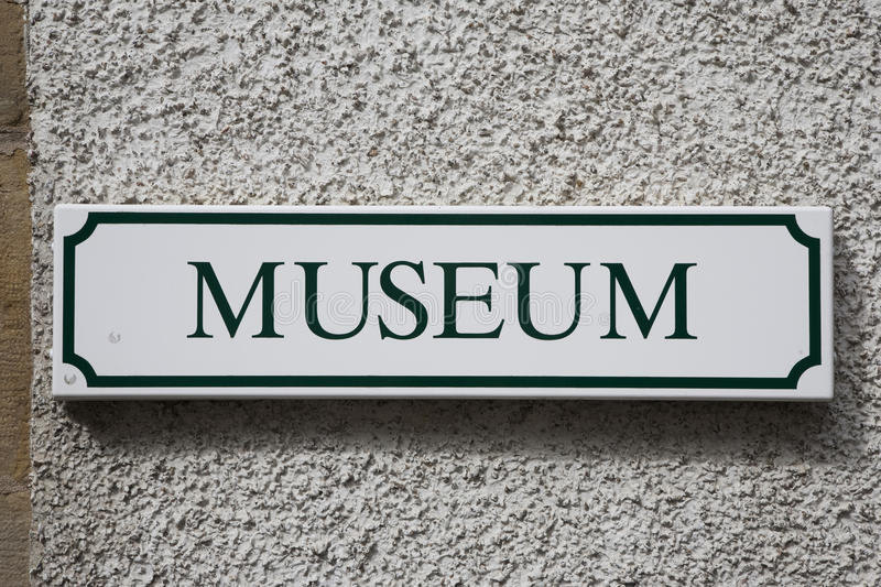 Museum Sign royalty free stock photo