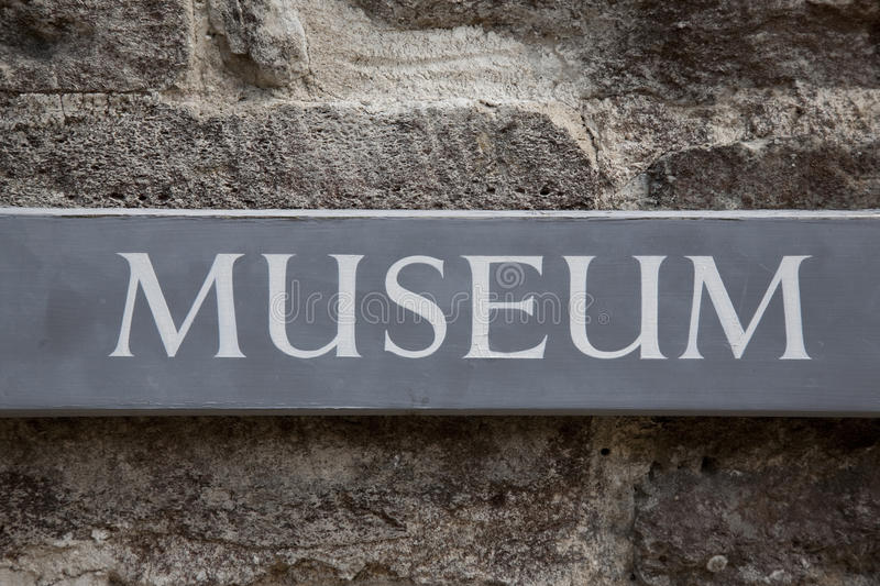 Museum Sign stock images