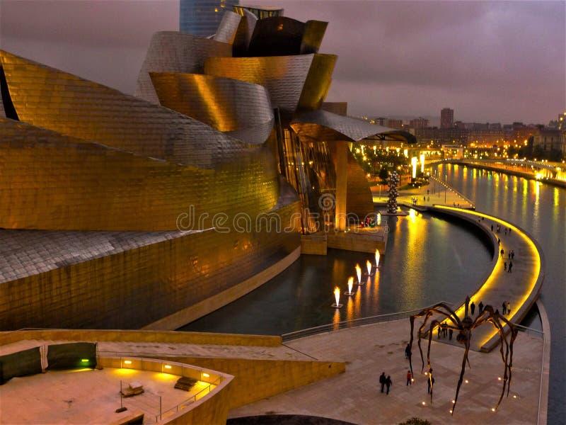 Museum Spaniens, Bilbao Guggenheim lizenzfreies stockfoto