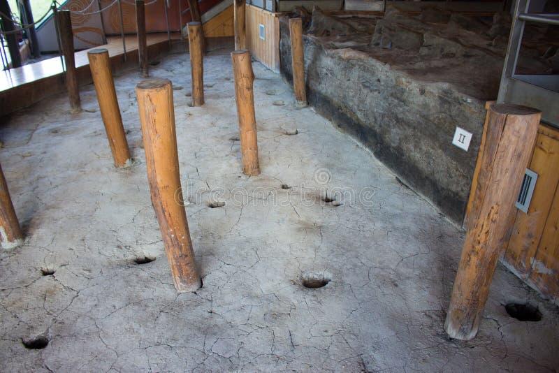 Museum terramare montale vgillaggio Modenas prähistorischen Italien-europ lizenzfreie stockfotos