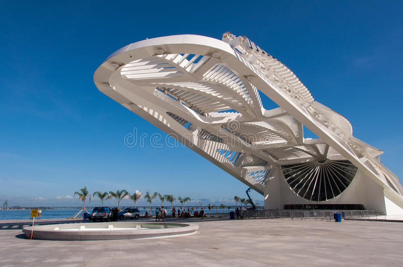 Museum of Tomorrow. Rio de Janeiro, Brazil - January 6, 2016: Museum of Tomorrow in the newly rebuilt Maua Square is the latest attraction of the city royalty free stock photos