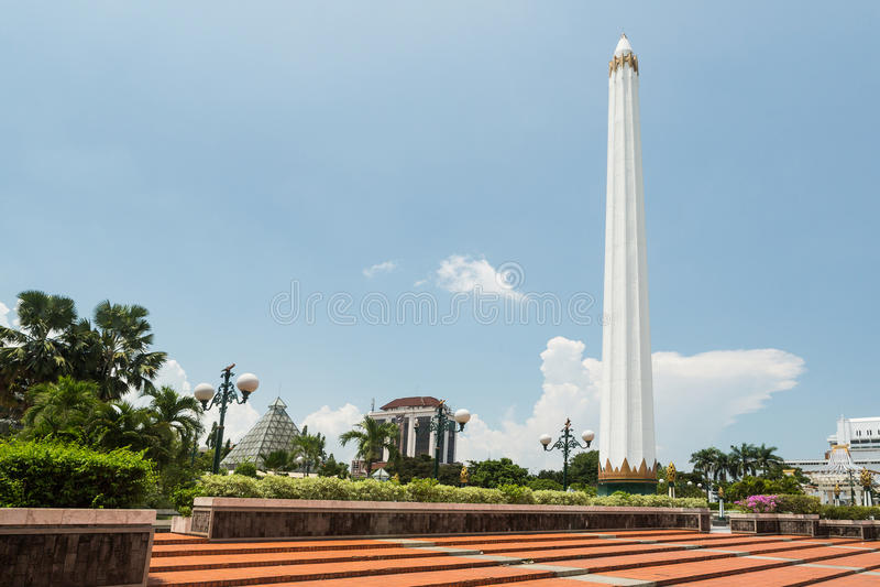 Museum Tugu Pahlawan in Surabaya, East Java, Indonesia stock image