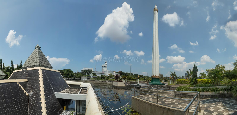 Museum Tugu Pahlawan in Surabaya, East Java, Indonesia royalty free stock images