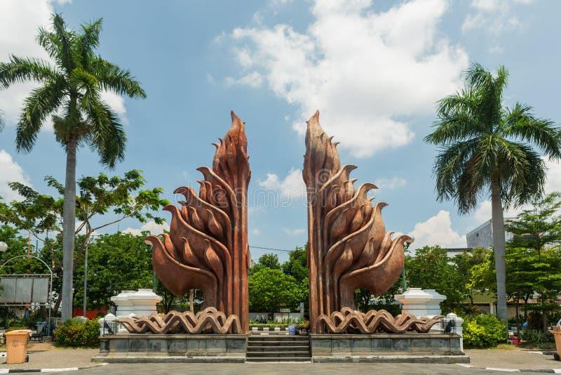 Museum Tugu Pahlawan in Surabaya, Osttimor, Indonesien lizenzfreie stockfotos