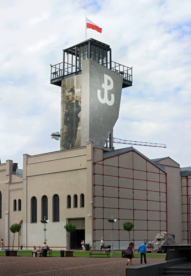 museum utvändiga stigande warsaw royaltyfri fotografi