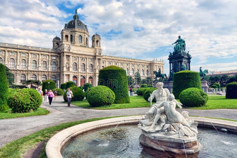 Museum van Beeldende kunsten in Maria-Theresien-Platz, Wenen, Oostenrijk stock fotografie
