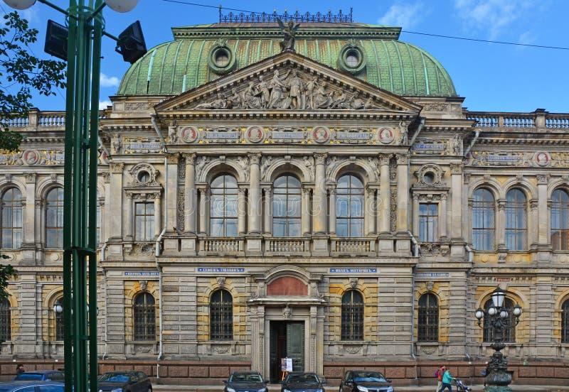 Museum van de Centrale school van technische tekening van de baron Shtiglits in Heilige Petersburg, Rusland stock fotografie