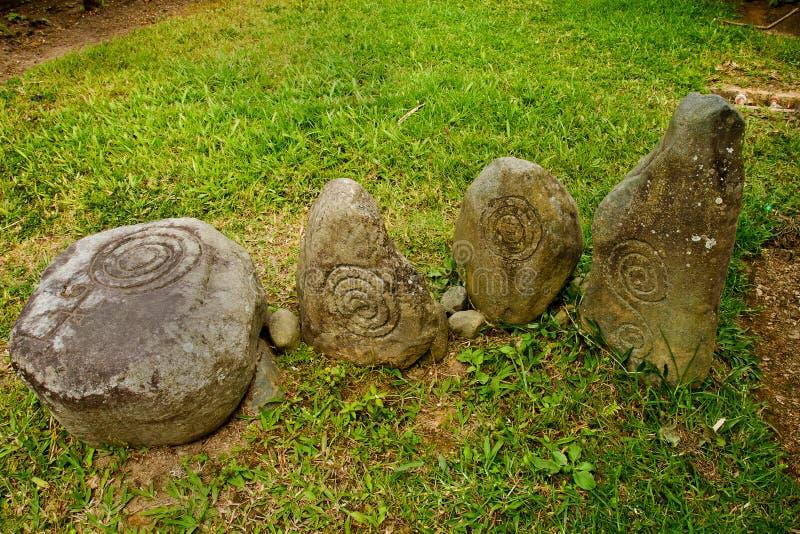 Museum van de Tulipe het Archeologische plaats, Ecuador stock afbeelding