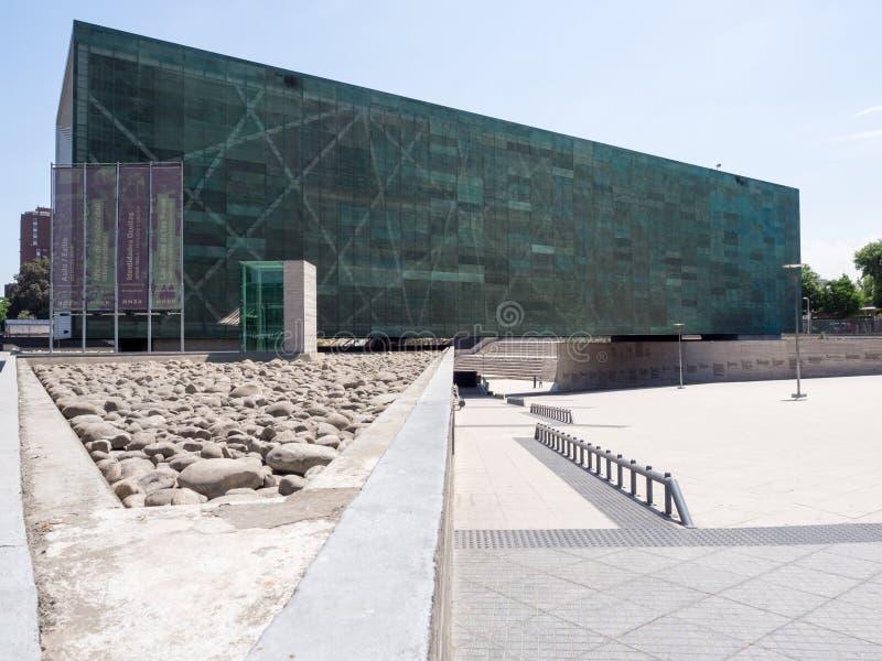 Museum van Geheugen en Rechten van de mens, Santiago, Chili stock fotografie