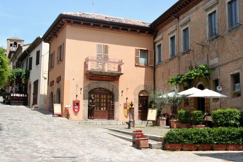 Museum van Gradara-kasteel, Centraal Italië royalty-vrije stock foto