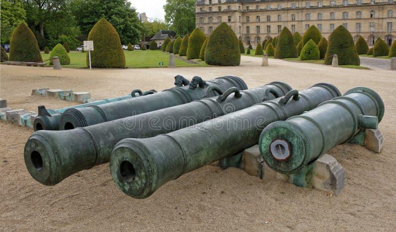Museum van het Leger Verkeerskanonnen van de inzameling van mu royalty-vrije stock foto's