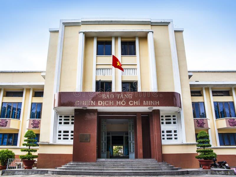 Museum van Ho Chi Minh Campaign (Bao-het zweempje chien dich ho chi minh), Ho Chi Minh-stad, Vietnam stock afbeeldingen