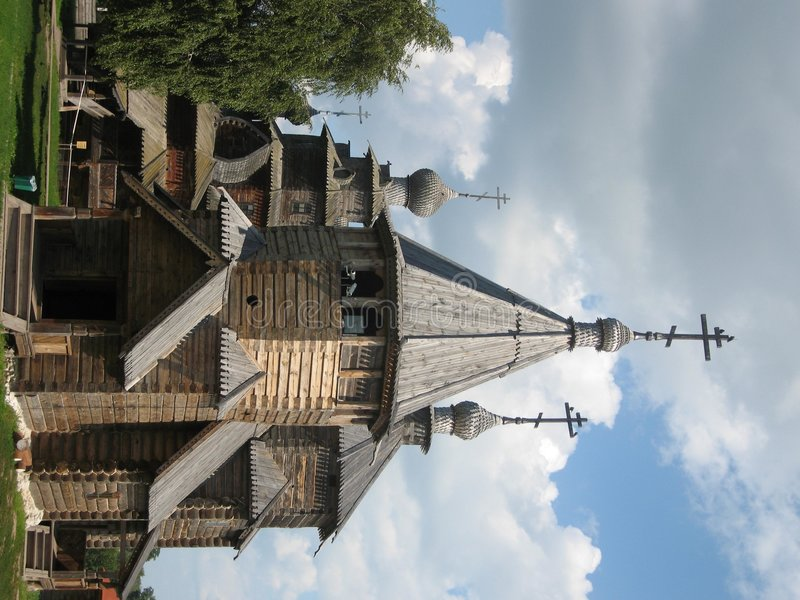 Museum van houten architectuur, Suzdal, Rusland royalty-vrije stock foto's