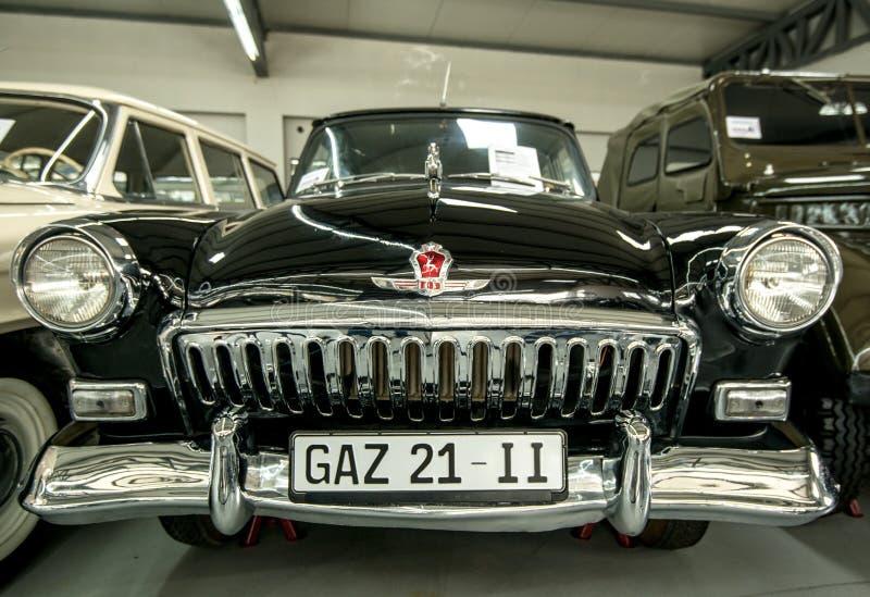 Museum van Oude Sovjetauto's royalty-vrije stock afbeeldingen