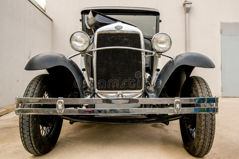 Museum van Oude Sovjetauto's stock foto