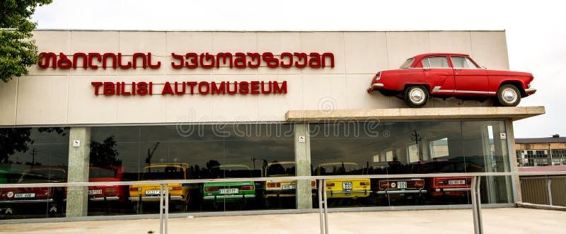 Museum van Oude Sovjetauto's stock afbeelding