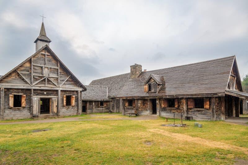 Museum van Sainte Marie onder Hurons dichtbij Binnenland in Canada royalty-vrije stock foto's