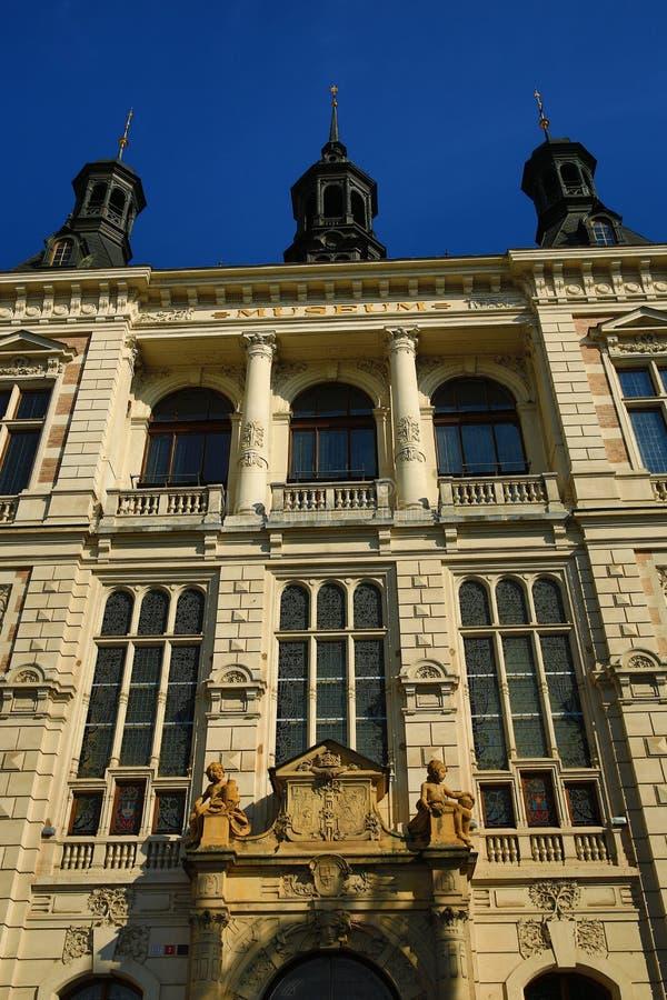 Museum van West-Bohemen in Pilsen, Oude architectuur, Pilsen, Tsjechische Republiek royalty-vrije stock foto