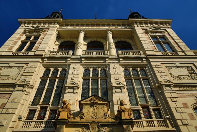 Museum van West-Bohemen in Pilsen, Oude architectuur, Pilsen, Tsjechische Republiek stock afbeelding