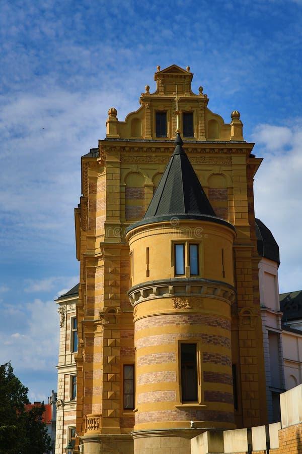 Museum van West-Bohemen in Pilsen, Oude architectuur, Pilsen, Tsjechische Republiek stock fotografie