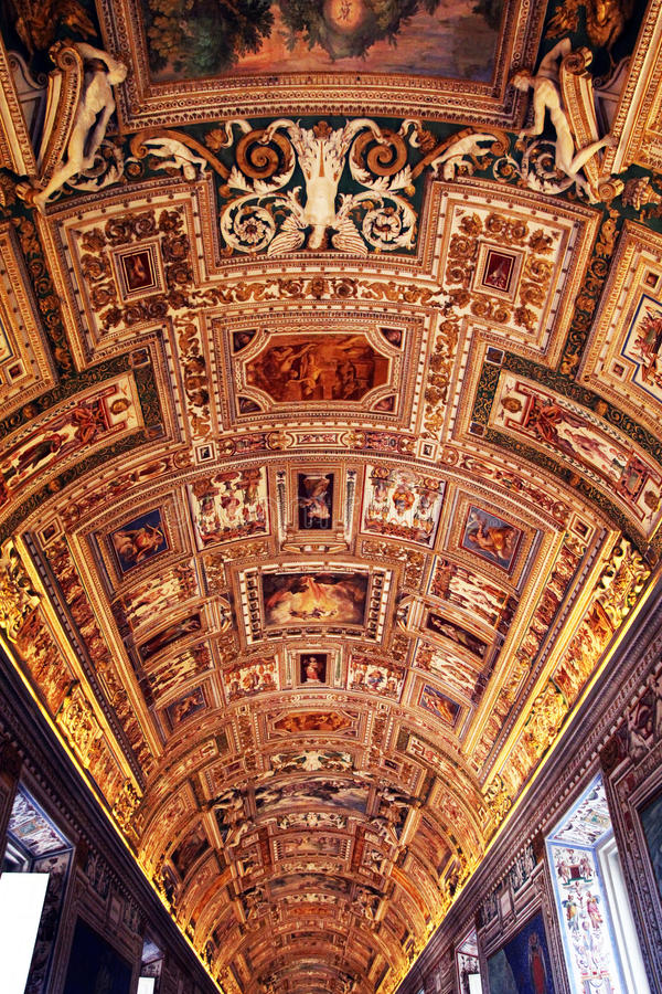 museum vatican royaltyfria foton